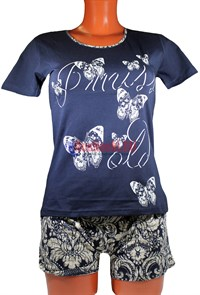 80602 Комплект женский, футболка+шортики