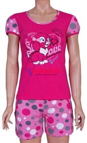 80267 Комплект женский, футболка + шорты