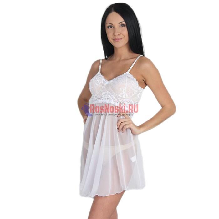 522 Сорочка женская FELISSE, шифон, кружево сверху - фото 213717