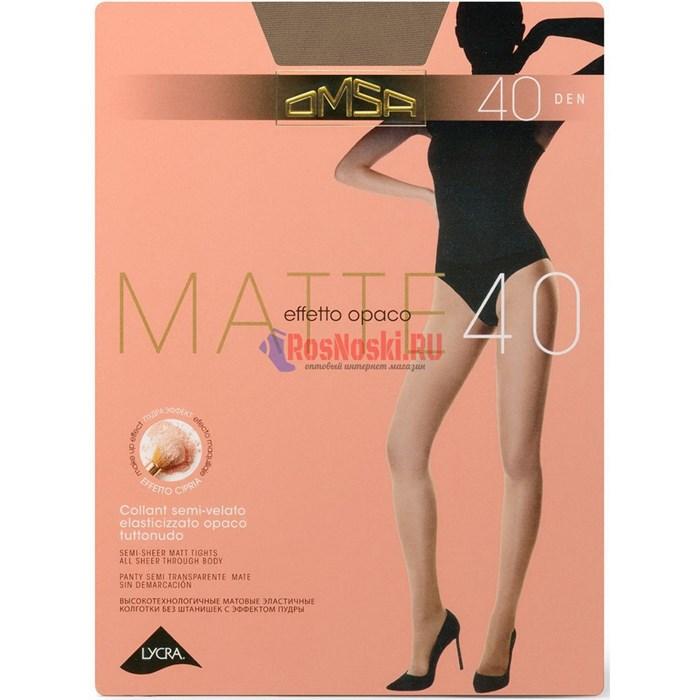 Колготки женские OMSA Matte 40, матовые, с эффектом пудры - фото 214509