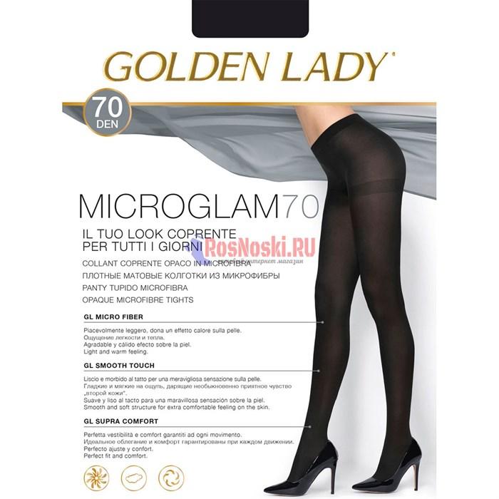 Колготки женские GOLDEN LADY MicroGlam 70, плотные, матовые, из микрофибры - фото 214818