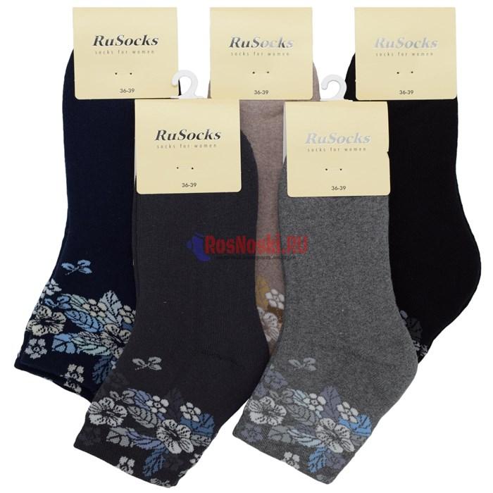 Ж 2337 Носки женские RUSOCKS, на зиму, хлопок, махровые внутри - фото 214835