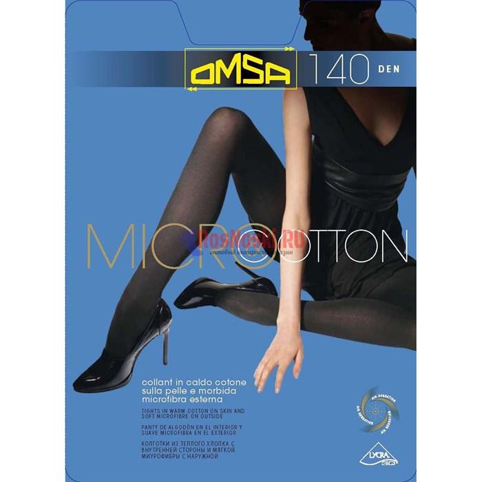 Колготки женские OMSA MicroCotton 140, двухслойные, хлопок внутри, микрофибра снаружи - фото 214907