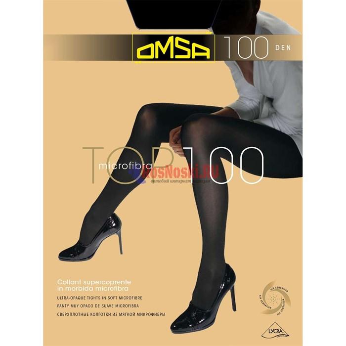 Колготки женские OMSA Top 100, микрофибра, плотные и матовые, без шортиков - фото 214923
