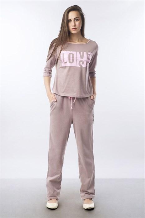 """Пижама женская MARGO, """"Love"""", брюки с кофтой - фото 32814"""