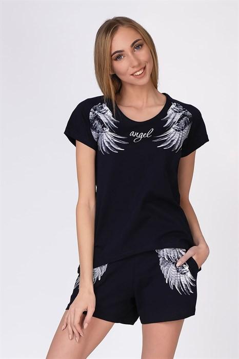 """Комплект женский MARGO, """"Крылья"""", шорты с футболкой - фото 32976"""