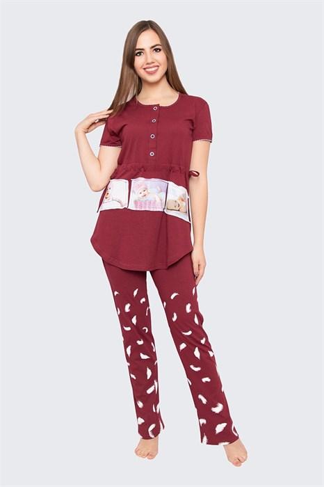 """Комплект женский MARGO, """"Чудо"""", брюки с футболкой, хлопок, для беременных - фото 33967"""