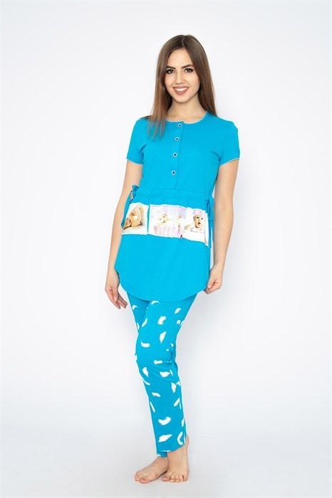 """Комплект женский MARGO, """"Чудо"""", брюки с футболкой, хлопок, для беременных - фото 33969"""