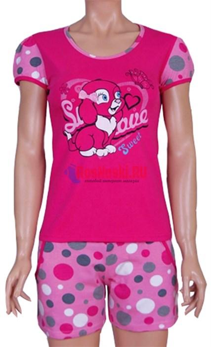 80267 Комплект женский, футболка + шорты - фото 7406