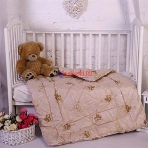 """Одеяло детское всесезонное """"СМ"""", глосс-сатин, верблюжья шерсть"""