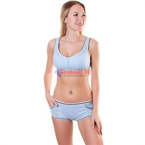 MD1525 Комплект женский MIDUO, топ с чашкой push-up и шорты, полиамид, спортивный