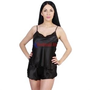 4714 Комплект женский FELISSE, топ и шорты, шёлк, кружево сверху