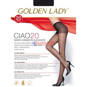 Колготки женские GOLDEN LADY Ciao 20, прозрачные, с уплотненной верхней частью