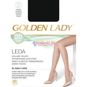 Колготки женские GOLDEN LADY Leda 20, с уплотненным верхом и мыском