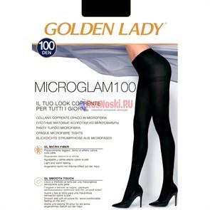 Колготки женские GOLDEN LADY MicroGlam 100, плотные, матовые, широкий пояс